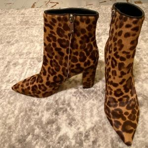 Marc Fisher LTD pointy toe bootie leopard